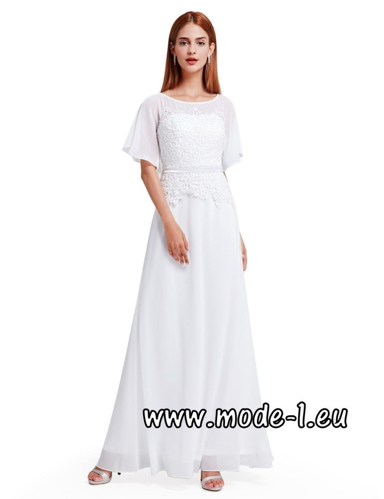 langes abendkleid weiß