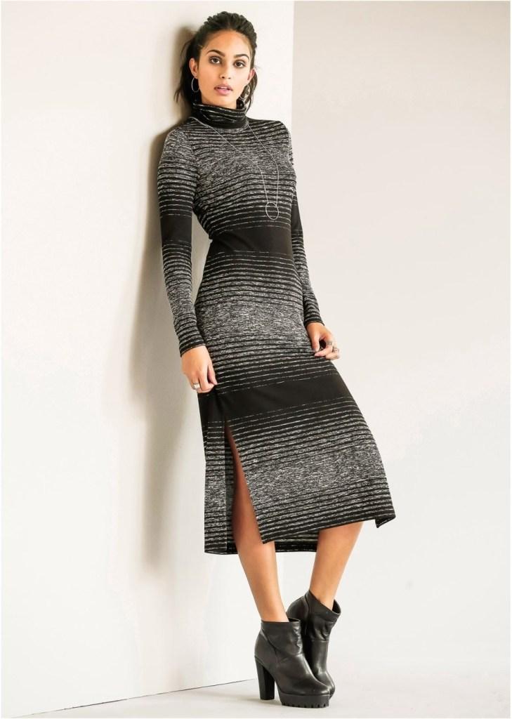 Cool Langes Strickkleid Spezialgebiet Abendkleid