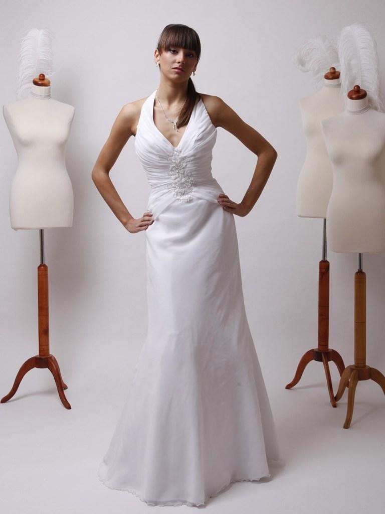 Designer Kreativ Brautkleid Neckholder Vertrieb Abendkleid