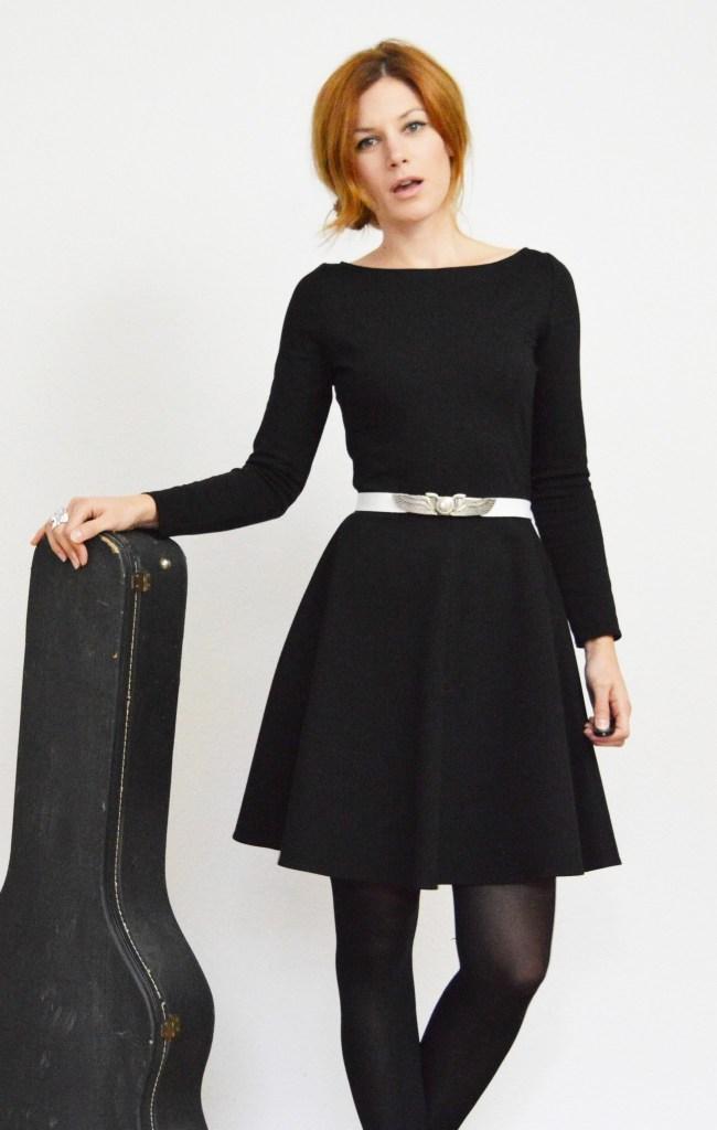 Designer Luxus Kleid Mit Glockenrock Ärmel – Abendkleid