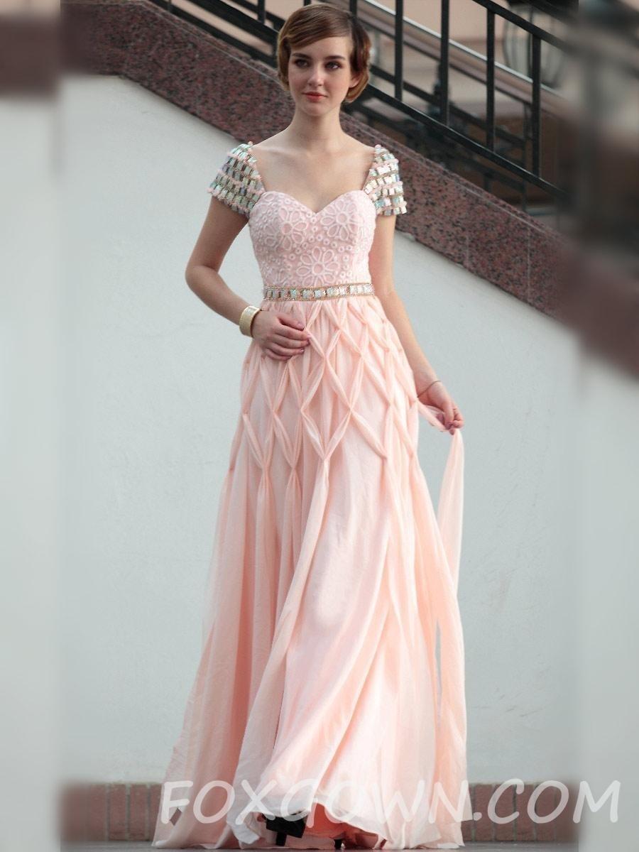2672eee9a92 Kleid Rosa Abendkleider Festlich Knielang In Stilvolle Deutschland VSUzMp