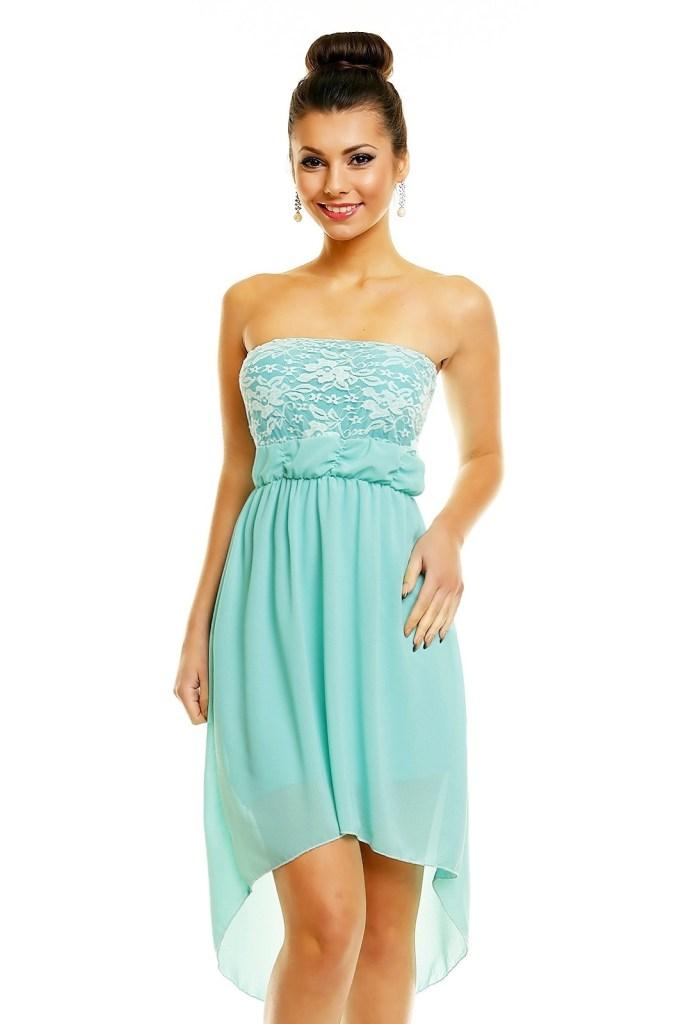 wholesale dealer a701e c83b6 Perfekt Kleid Türkis Spitze Ärmel - Abendkleid