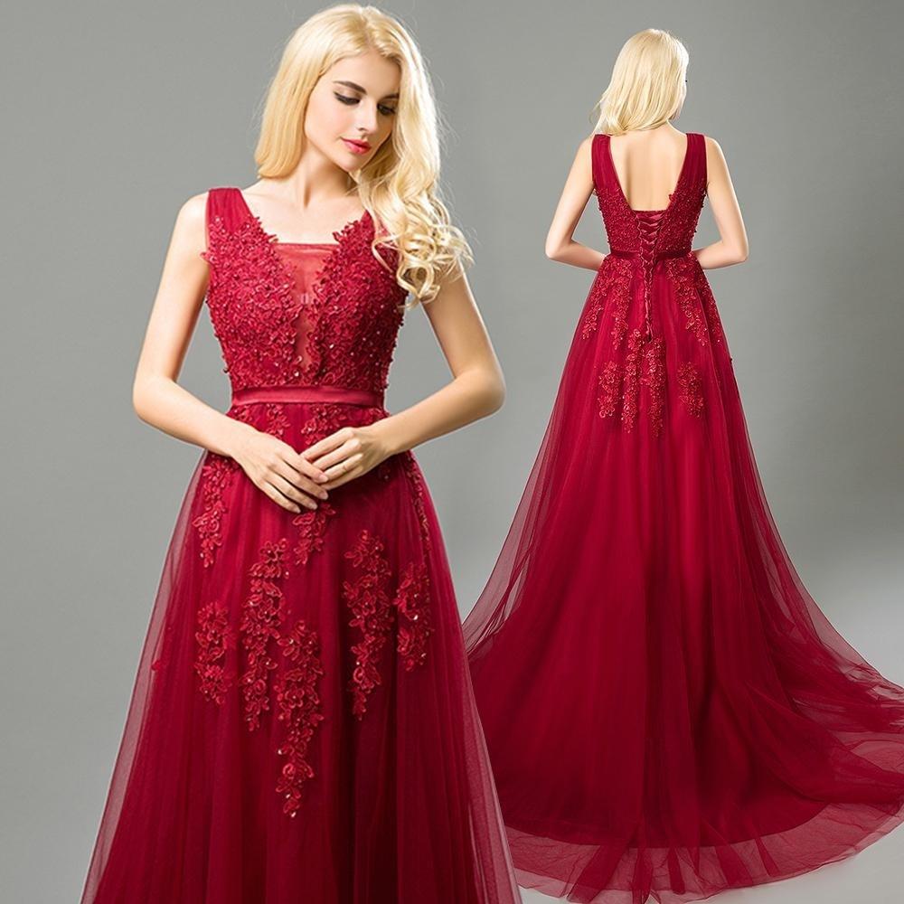 Abendkleid rot spitze