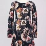 Abend Einzigartig Kleid Schwarz Blumen StylishDesigner Ausgezeichnet Kleid Schwarz Blumen Stylish