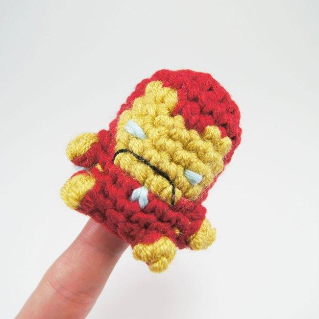 Crocheted Iron Man