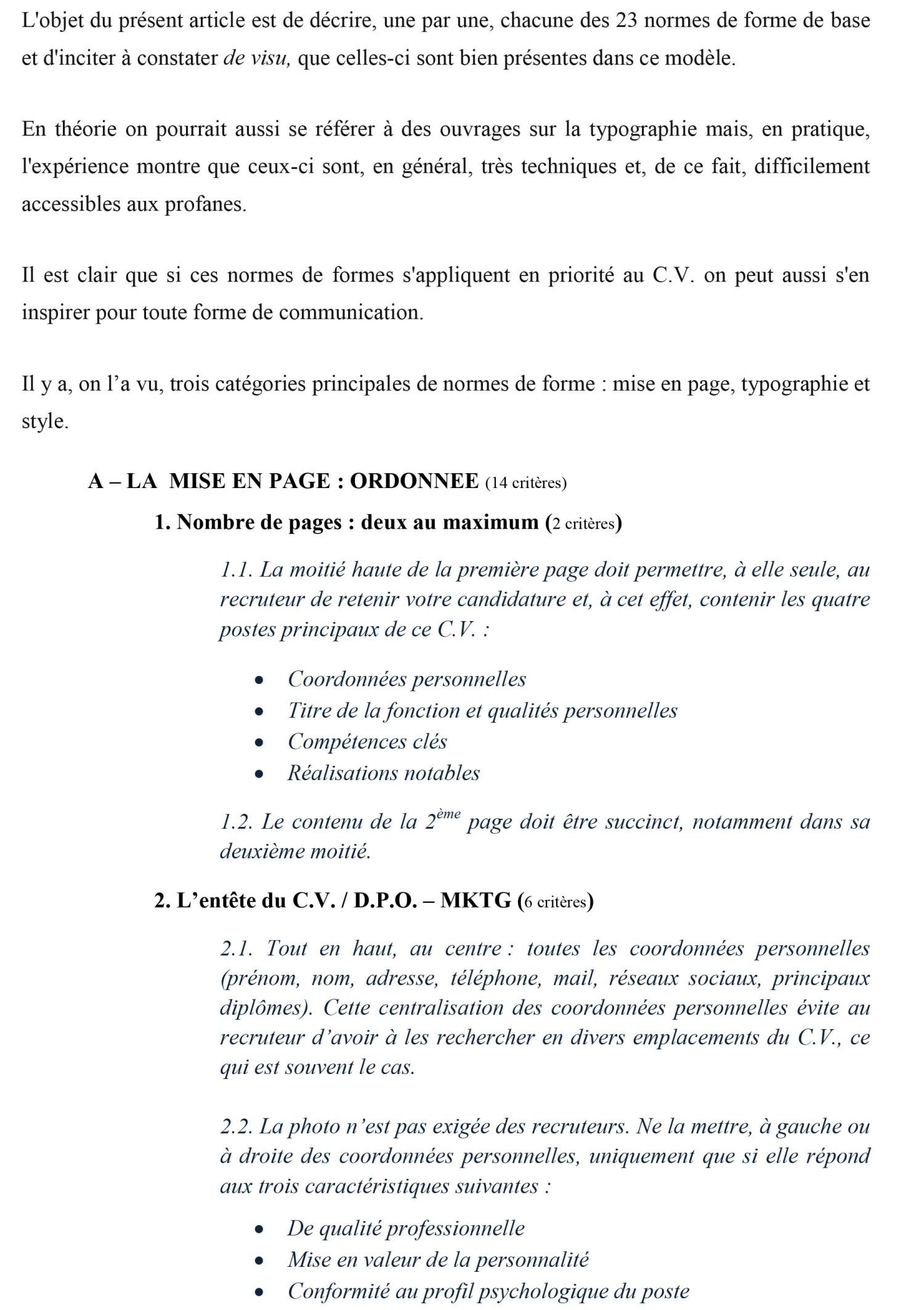 LES 21 CRITERES DE FORME DU CV DPO MKTG-4 p2