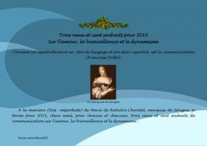 Read more about the article Trois voeux et cent souhaits insolites pour 2015 sur l'amour, la bienveillance et le dynamisme