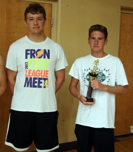 Trae Johnsen (right) and Alex Prettyman finished first and second, respectively, in the high-point standings for the 15-and-over boys.