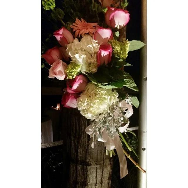 Wedding #flowers at night.
