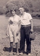 My grandfather with one of his sisters.
