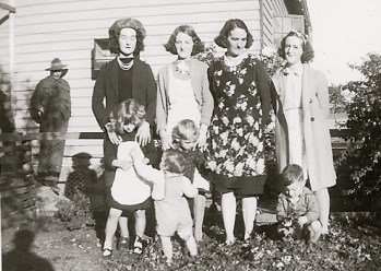My grandmother and her sisters and their children.