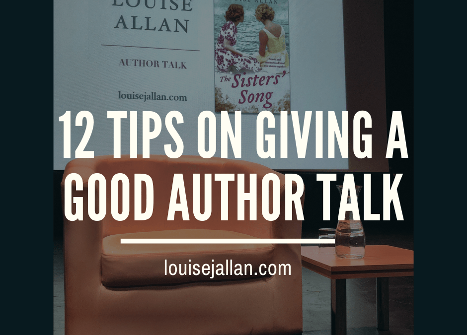 12 Tips on Giving a Good Author Talk