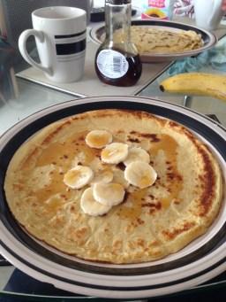 crepes with banana