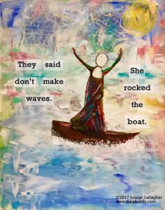 They said don't make waves. She rocked the boat. #ShePersisted