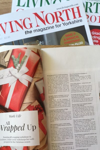 my feature pages in Living North, Yorkshire edition Dec 2017