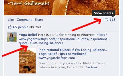thank Facebook sharers screenshot