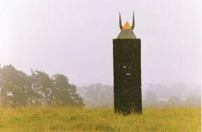 Sumpfobjekt I | 1993, Holz/Blei/Kupfer | Höhe 400 cm