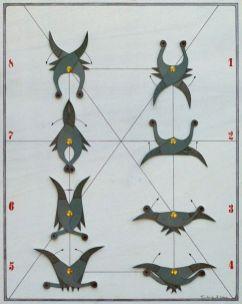 Tanz der kleinen schwarzen Witwe V | 2006, Papier auf Holz | 50 x 40 cm