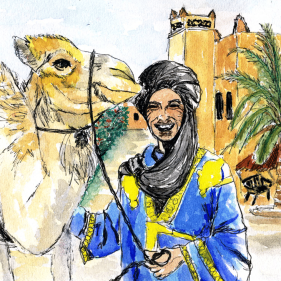 Sketch done at home after trip to Ouarzazate, Morocco in 2014.