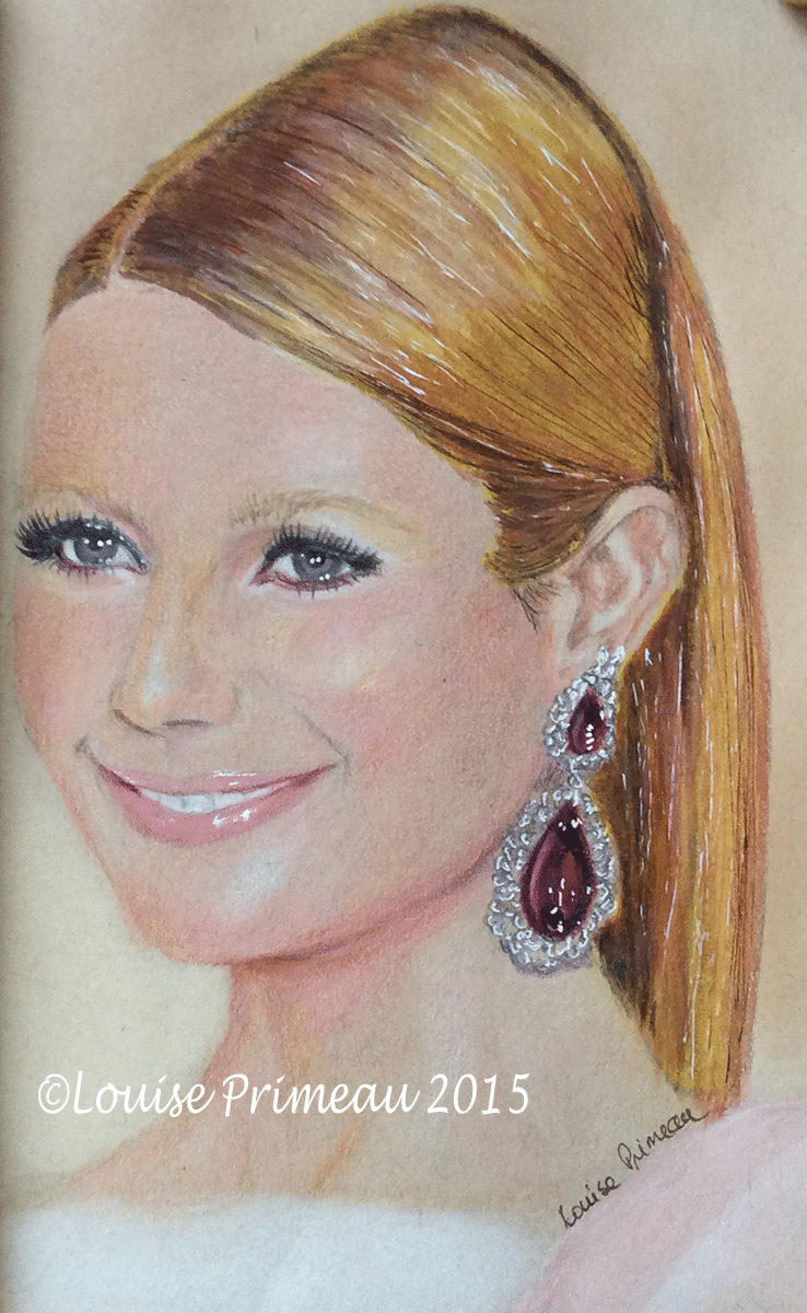 Pencil portrait of Gwyneth Paltrow