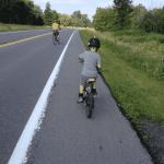 biking on Sunday Bike Days on Ottawa River Parkway.