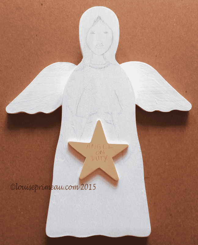 giveaway wooden angel for subscribers