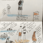 quick sketches on the beach