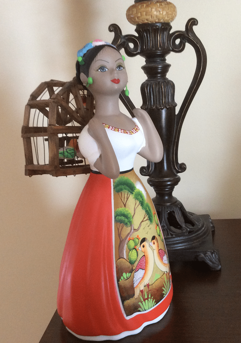 ceramic doll from Puerto Vallarta, Mexico