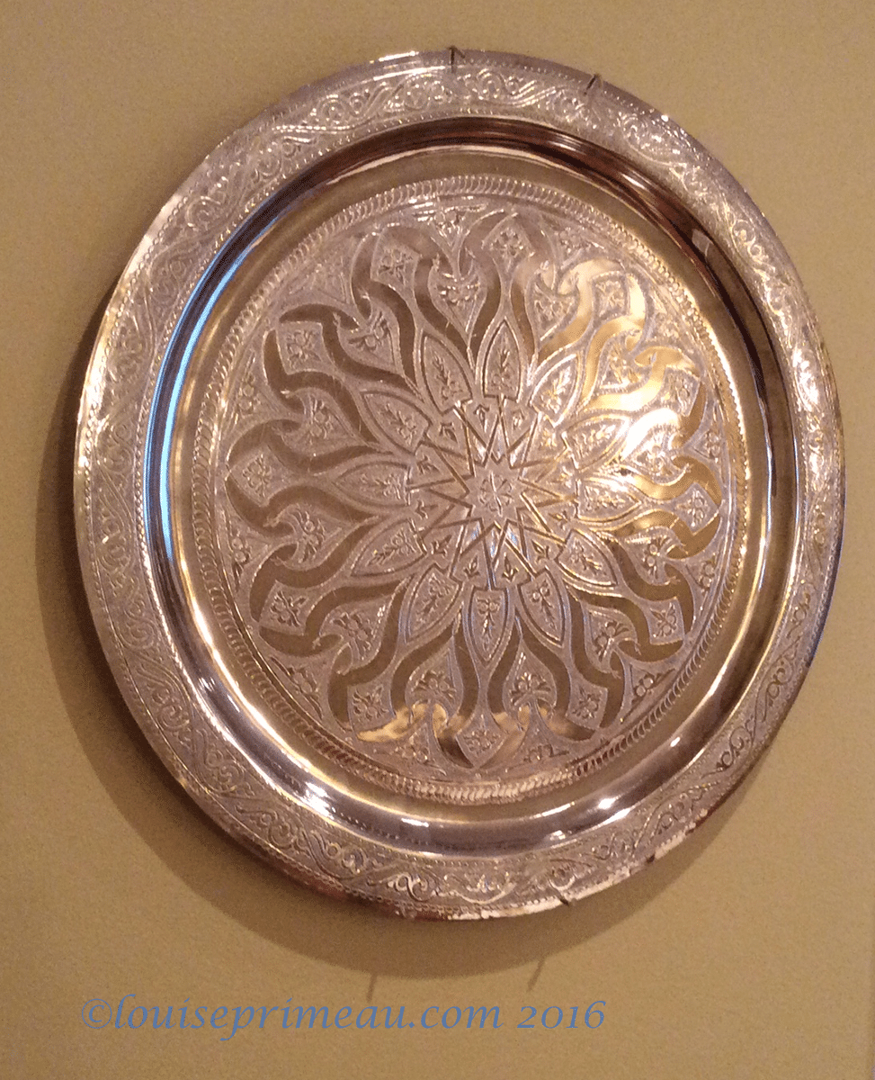 silver plate from Morocco