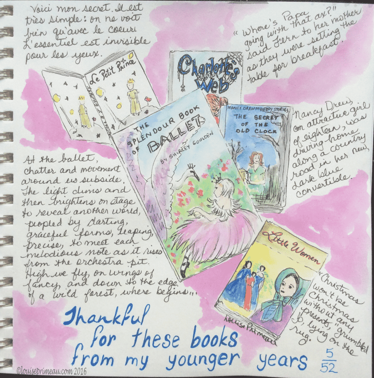 Thankful for books- Gratitude Journal Entry