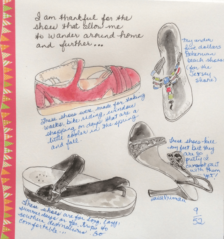 These shoes of mine have I loved - gratitude journal