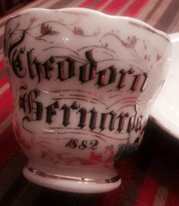 rare vintage birth cup 1882