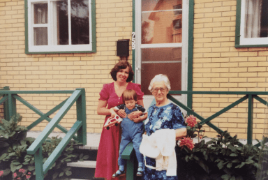 Nonni with her first grandson