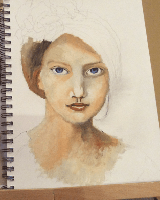 velvet flower girl