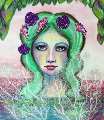 This mermaid sings a melancholy song for her lost love