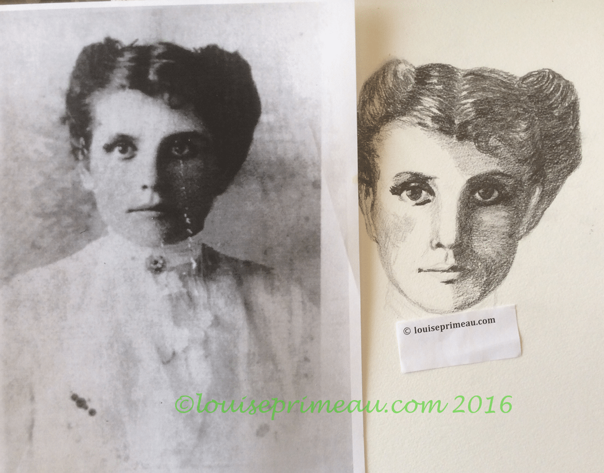 vintage photograph interpreted in graphite