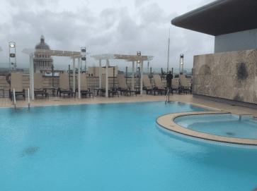 El Capitolino from rooftop pool in old Havana Cuba