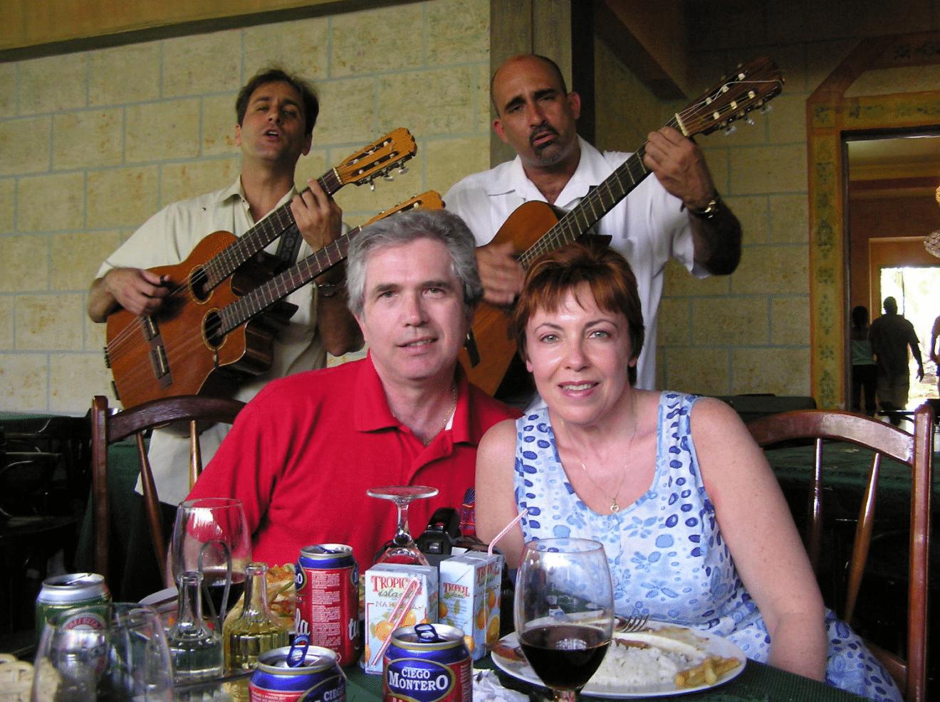 at restaurant in Havana