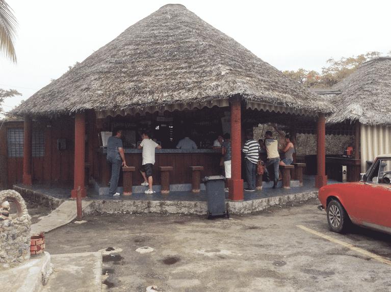 canteen stop in Cuba on way to Havana