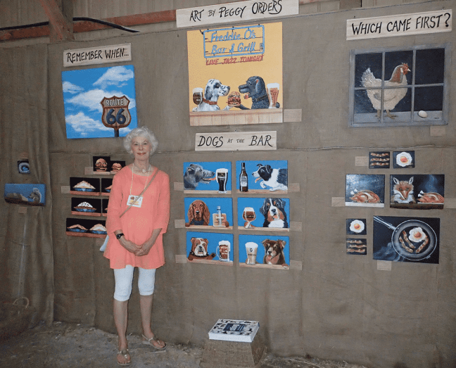 Peggy Orders at Art in the Barn 2016