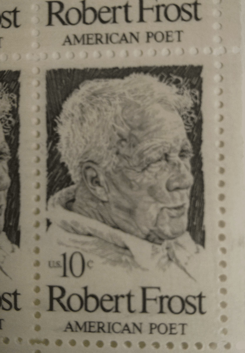 Robert Frost USA stamp (vintage)