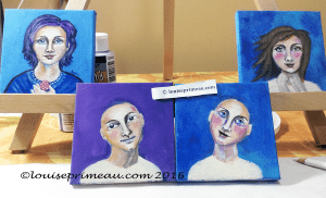 Stages of progression in portrait series