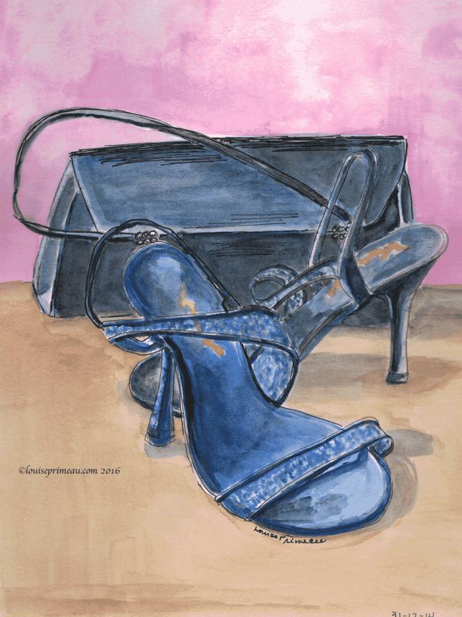 watercolour stiletto party shoes