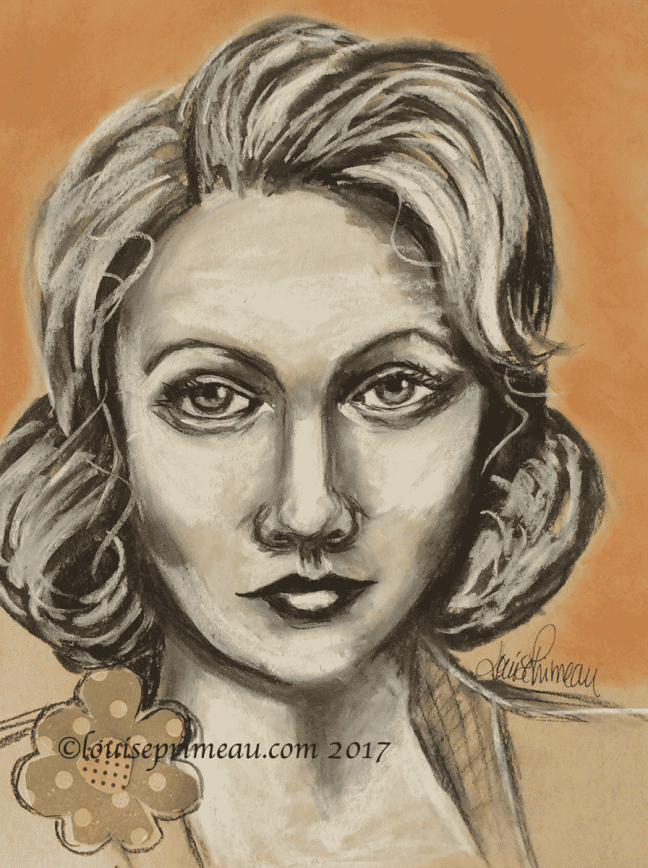 charcoal portrait in Strathmore Toned Tan sketchbook