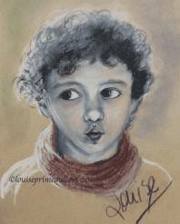 mixed media portrait - Danny Boy