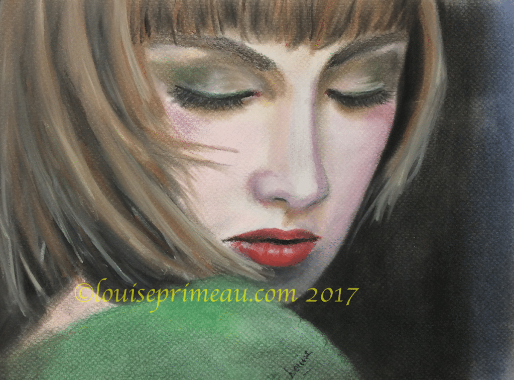 pastel portrait Heartbroken by Louise Primeau