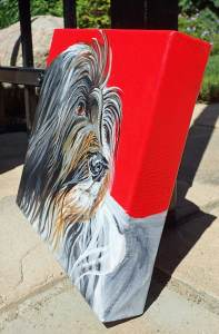 gallery wrapped canvas for Dutch Sheep Dog portrait