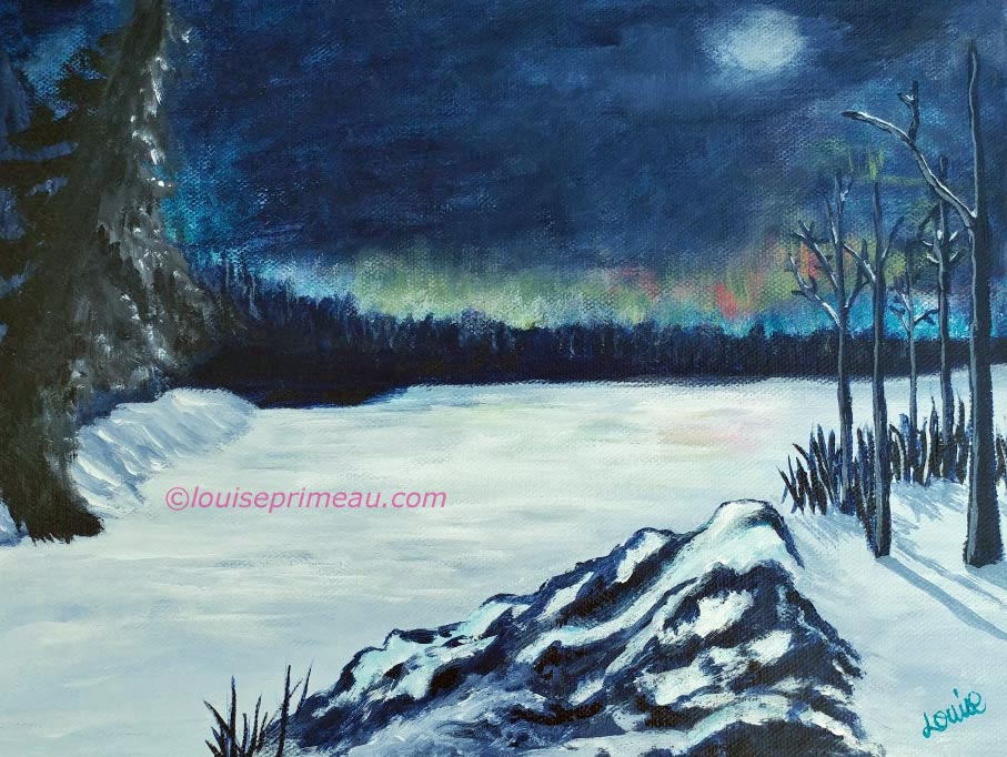 Snowbound, 9x12 acrylic on wrapped gallery canvas
