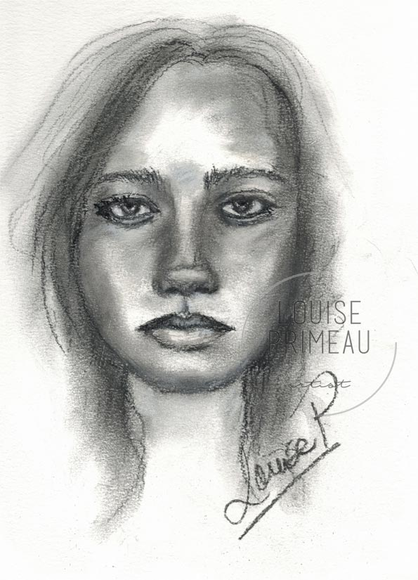 timed charcoal sketch
