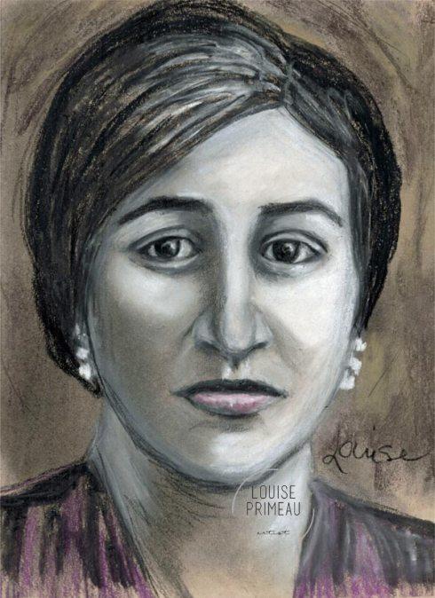 charcoal vintage portrait of Italian immigrant